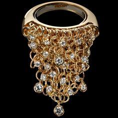 Small ring 750/1000 yellow gold - white diamonds ct. 1,00 LJWM061