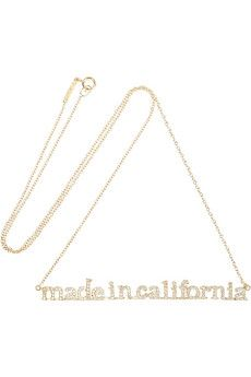 Would love to have this.  Sadly, I don't have $6450 to spare.    Jennifer Meyer Made In California 18-karat gold diamond necklace  | NET-A-PORTER