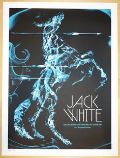 2014 Jack White - St. Louis Concert Poster by Todd Slater