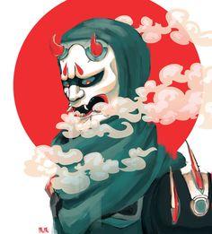Oni Genji by SaltChild.deviantart.com on @DeviantArt