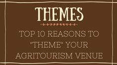 """In case you missed it, read the blog post, """"Top 10 Reasons to Theme your Agritourism Venue."""" Reason 1: Capitalize on a Current Event or Trending Topic! Themes can be a powerful guest magnet if you choose the right one. Think Big! Pick a theme that has broad appeal. Stay away from themes that are only about your farm or your town.  Use a theme that has the potential of drawing traffic from hours away! Here are some of the themes we have done over the years..."""