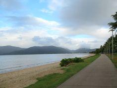 A scenic pedestrian walkway runs along Trinity Bay parallel to The Esplanade in Cairns, North Queensland, Australia. Fraser Island, Queensland Australia, Cairns, Pedestrian, Walkway, Brisbane, Beach, Water, Outdoor