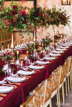 Country Chic Meets Gatsby Glam - WedLuxe Magazine - Pops of red Winter Wedding Decorations, Wedding Themes, Wedding Designs, Wedding Colors, Wedding Events, Red Table Decorations, Red Wedding Receptions, Red Centerpieces, Quince Decorations