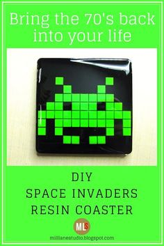 Bring a little of the nostalgic and back into your life with this classic Space Invaders resin coaster. It's the perfect gift for the geek in your life. Novelty Gifts For Men, Unique Gifts For Men, Space Invaders, Diy Jewellery Designs, Arcade, Nerd, Resin Tutorial, Wine Tumblers, Diy Home Decor Projects