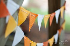 Candy Corn Felt Bunting Garland by AFeltAffair on Etsy, $13.00
