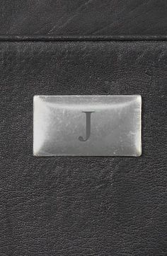 Men's Cathy's Concepts Personalized Leather Money Clip - Black