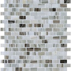 """Marble Systems 6-Pack 12""""x12"""" Grey Marble Natural Stone Wall Tile $139   Is going to look lovely with espresso cabinets.♥"""