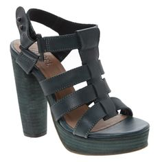 Dark Green Leather Sandals for £29.99 #fabfind