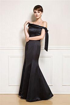 Trumpet/Mermaid Off-the-shoulder Floor-length Satin Evening Dress