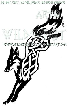 Knotwork Leaping Fox Design by WildSpiritWolf.deviantart.com on @deviantART
