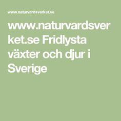 www.naturvardsverket.se Fridlysta växter och djur i Sverige