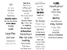 Free font cheat sheet to organize all those fonts! {download}