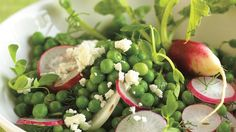 Pea Salad with Radishes and Feta Cheese | Bon Appetit Recipe