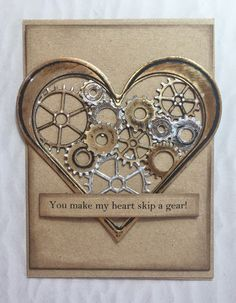 Hello friends Happy Friday and Happy Valentine's Day! Masculine Birthday Cards, Masculine Cards, Love Valentines, Valentine Day Cards, Steampunk Cards, Wedding Cards Handmade, Anniversary Cards, Happy Anniversary, Heart Cards