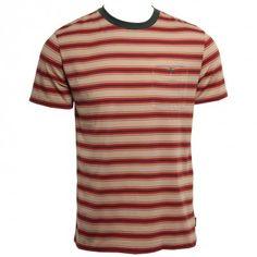 Brixton Clothing Mens Knit Fraction Tan Burgundy www.hansensurf.com