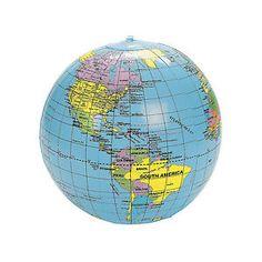 new inflatable globe 40cm atlas world map earth