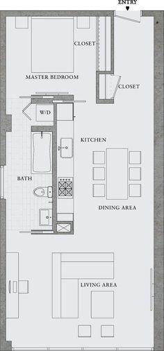 Excellent Image of Small Apartment Plans Layout . Small Apartment Plans Layout Great Simple Design Would Also Make A Great Rental Property 8 The Plan, How To Plan, Layouts Casa, House Layouts, Garage Apartments, Small Apartments, Small Spaces, Studio Apartments, Container Houses