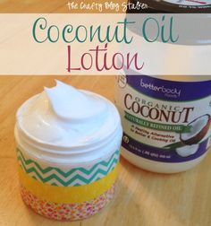 Coconut Oil Lotion Recipe There are only 3 ingredients: 27 oz Johnson's baby lotion (any smell) Vitamin E Skin Care Cream double pack (4 oz each) – can be found at walmart 1 cup Coconut Oil
