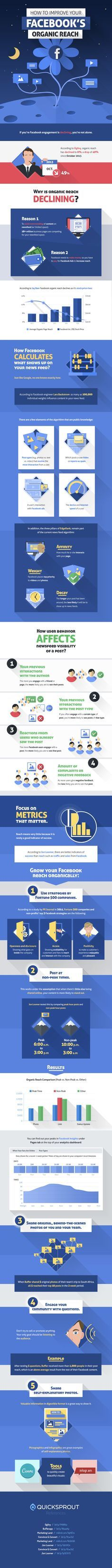 Improving Your Facebook Reach #infographic