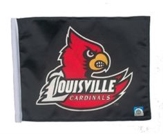 Louisville Cardinals 11in x 15in Golf Cart or Car Flag by SSP Flags.  Buy it @ ReadyGolf.com