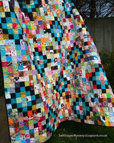 Love the colors and the story behind this quilt!!  SV part trois by ImAGingerMonkey, via Flickr