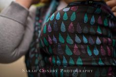 Baby Carrier Wrap The Peacocks, made by Woven Wings, in pattern Droplets, contains cotton linen merino silk Limited Edition, released 16 June thickness 270 Baby Wrap Carrier, Wings, Beanie, Silk, Hats, Pattern, Cotton, Photography, Peacocks
