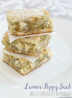Lemon Poppy Seed White Chocolate Blondies Recipe