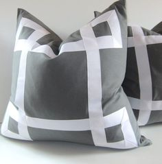 Gray Pillow, these would look pretty on my bed..