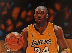 Kobe Bryant - acrylic painting by Paul Meijering - 90 x 120 cm