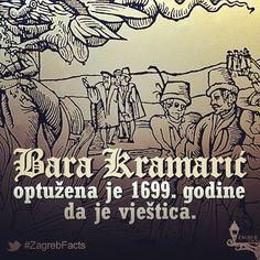 Bara je priznala da je bila sredinom godine u društvu vještica. Barino suđenje 1699. bilo je prvo zapisano u kaptolskim arhivima. Osudili su je i vjerojatno spalili izvan gradskih zidina. #ZagrebFacts #Zagreb #ZG #Agram #Gric #Grič #Kaptol #Gradec #GornjiGrad #witch #witches #OldZagreb #StariZagreb #coprnice #vjestica #1699