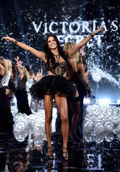 Adriana Lima at Victoria's secret fashion show 2014 London finale