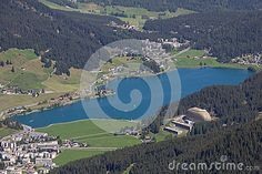 #View From Mt. #Jakobshorn Down To #Davos & #Lake Davos In #Graubünden In #Switzerland In #Summer @dreamstime #dreamstime #nature #landscape #travel #vacation #holidays #sightseeing #outdoor #mountains #hiking #colorful #beautiful #wonderful #panorama #stock #photo #portfolio #download #hires #royaltyfree