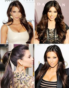 Kim Kardashian's hair extensions