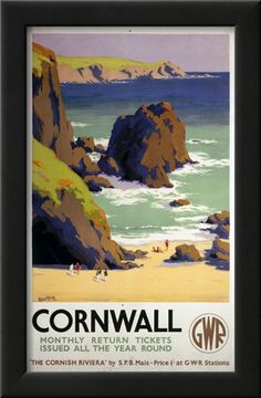 Cornwall Rocky Beach Prints at AllPosters.com