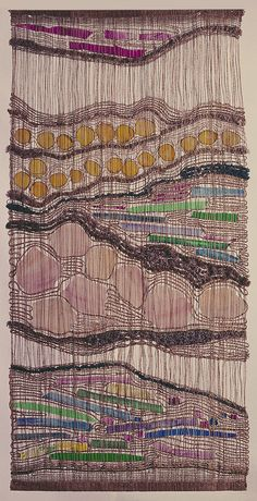 Like a microscope slide showing a dyed cross-section of plant xylem by American weaver Ted Hallman. gotta look into more of his work.