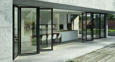 Materiales: Ventanas, Componentes y Detalles,Carpintería Metálica, Aluminio. Sistema Plegable Aluwood / Glasstech