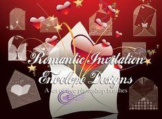 Photoshop brushes romantic-invitation-envelopes