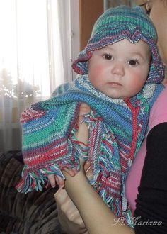 Baby Mütze + Poncho + Schuhe, gestrickt, Bambus Baumwolle, vegan, Unisex von LiMariann auf Etsy