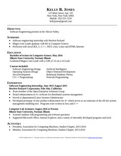 computer sciencesoftware engineer resume template download for free at https