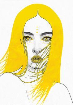 The Yellow Series — Tomasz Mro Art Pop, Art Sketches, Art Drawings, Yellow Wall Art, Art Folder, Art Inspo, Creative Art, New Art, Art Projects
