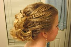 #1  My hair from the Army Ball February 2012
