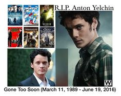 """R.I.P. Anton Yelchin"" by wearwhatyouwatch ❤ liked on Polyvore featuring art"