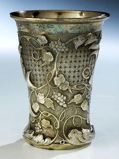 Russian silver beaker, Viktor Vasilyevich, Moscow 1857.