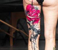 Pink Rose tattoo by Uncl Paul Knows