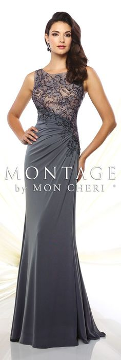 Montage by Mon Cheri Spring 2016 – Style No. 116947 Montage by Mon Cheri Spring 2016 – Style No. Mother Of Groom Dresses, Mothers Dresses, Elegant Dresses, Pretty Dresses, Mob Dresses, Bride Gowns, A Line Gown, Beautiful Gowns, Gorgeous Dress