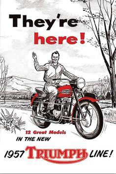 Affiche TRIUMPH 1957 Garage Atelier Vintage par frenchprintorama
