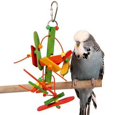 Popsicle Cascade Parrot Toy There's plenty here to keep beaks busy and entertained.