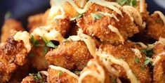 Poulet bang bang croustillant - Recettes - Ma Fourchette Meat Chickens, Bang Bang, Cauliflower, Food And Drink, Vegetables, Cooking, Breakfast, 20 Minutes, Taste Buds