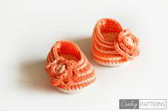 Вязание Крючком Детские Пинетки - Прекрасный Оранжево - Вязание Крючком Ребенка Обувь