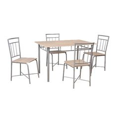 $150 Necessities Brand Dining Set Silver 5 Piece